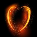 Glowing heart background