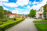Historical building on spa island in Piestany (SLOVAKIA)