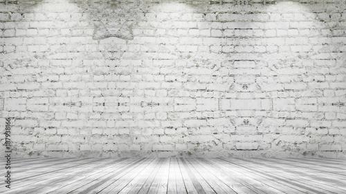 Foto op Aluminium Kasteel 3D grunge interior