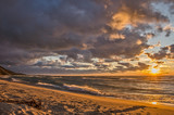 Beach Sunset on Lake Michigan 102491 - 187945161