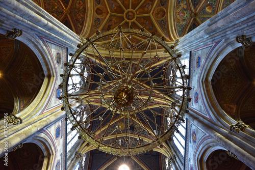 Deurstickers Wenen Wien - Votivkirche Deckenansicht