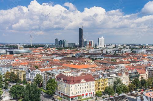 Vienna panorama rooftops - 187954519