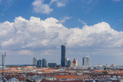 Foto Murales Vienna panorama rooftops
