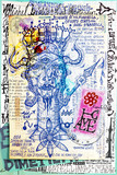 Manuscript background with esoteric and atrologycal draws and sketches