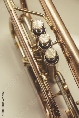Detail of a trumpet ..Top view - 187957702