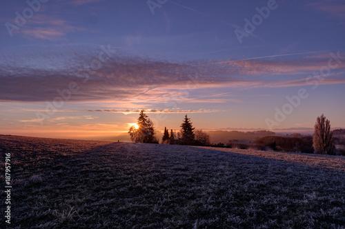 Foto Murales Sonnenaufgang im Südschwarzwald II
