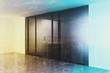Empty elevator hall toned