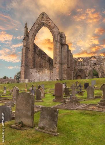 Aluminium Zonsopgang Bolton Abbey sunrise