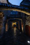 St. Catherine's Passage at night in Tallinn