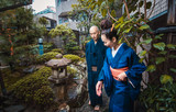 Senior couple lifestyle moments in a traditional japanese house - 187973338