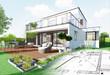 Esquisse de maison d'architecte