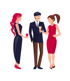 Corporate Party People on Vector Illustration - 187977960