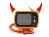 TV with horns and tail - 187985129