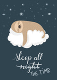 Sleeping sloth poste...