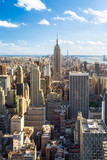 Fototapeta Nowy Jork - Manhattan Skyline in New York City mit Empire State Building, USA © eyetronic