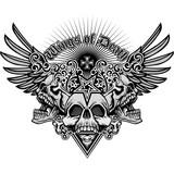 grunge skull coat of...