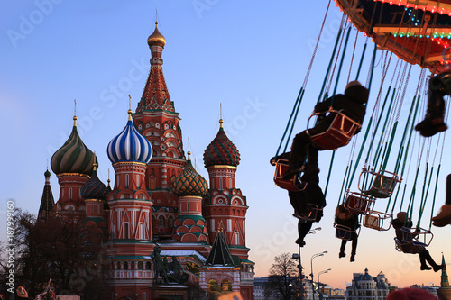 Foto op Aluminium Moskou Russia, Moscow, St. Basil's Cathedral on red square