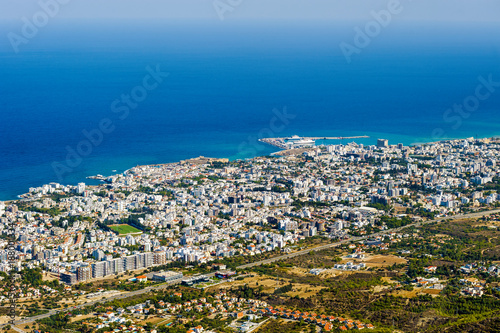Papiers peints Chypre Kyrenia Girne top view, Northern Cyprus