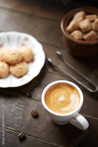 Cup of Espresso and a Glass of Amaretto