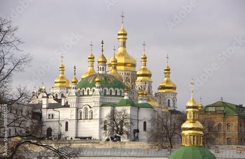 Fotobehang Kiev View of Pechersk Lavra monastery