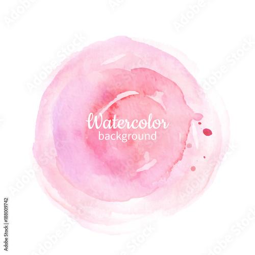 Akwareli różowa abstrakcjonistyczna ręka malujący tło. Akwarela vec
