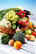 Composition with variety of raw organic vegetables and fruits. Balanced diet - 188011745