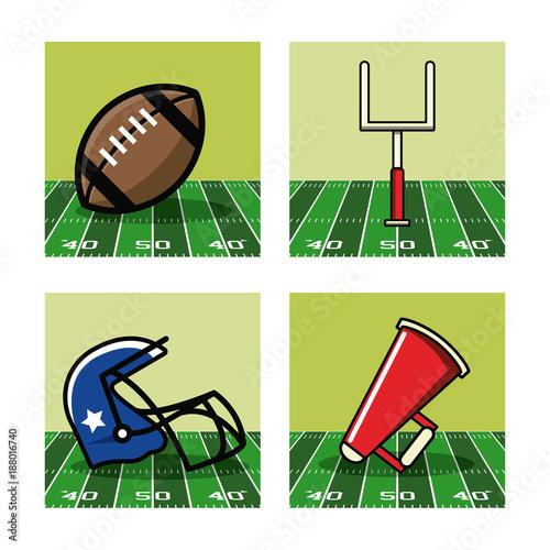 Staande foto Bol American football icons icon vector illustration graphic design