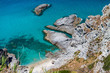 Beautiful aerial view of Calabria coastline - Italy in summer