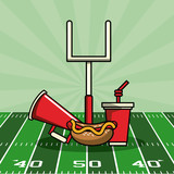 American football bowl tournament icon vector illustration graphic design - 188017320
