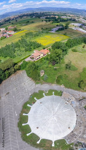 Deurstickers Toscane Aerial view of circular sport game stadium