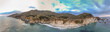 Big Sur panoramic aerial skyline at sunset, California
