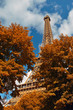 Eiffel Tower in autumn time.