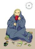 Girl drinking tea wi...