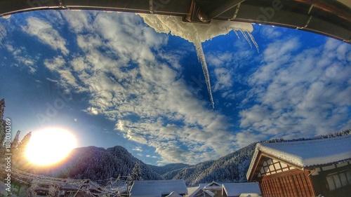 ベランダから見た雪景色