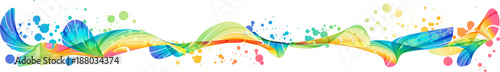 Colorful splash horizontal design © sinaappel