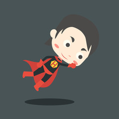 Super hero kids character
