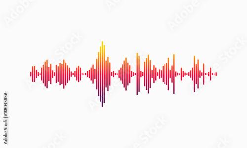 Modern Sound Wave Vector illustration