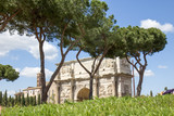 Triumphal Arch of Constantine in Rome, Italy
