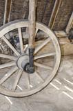 Old repair shop in log cabin - 188046912