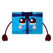 cartoon christmas  gift crying expression