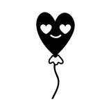contour heart balloon in love kawaii cartoon - 188054719