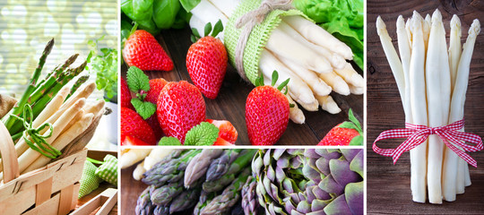 Collage - Spargel - Asparagus
