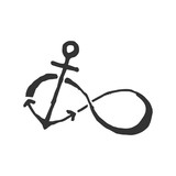 infinity anchor. Symbol of sailors