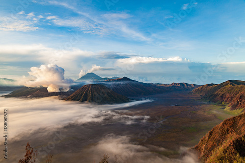 Foto op Plexiglas Cappuccino Tengger caldera at Semeru National Park, East Java, Indonesia.