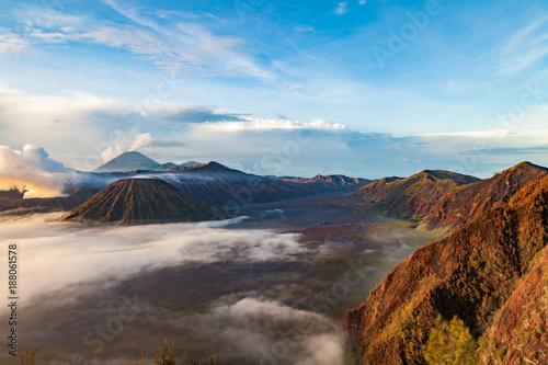 Fotobehang Pool Tengger caldera at Semeru National Park, East Java, Indonesia.