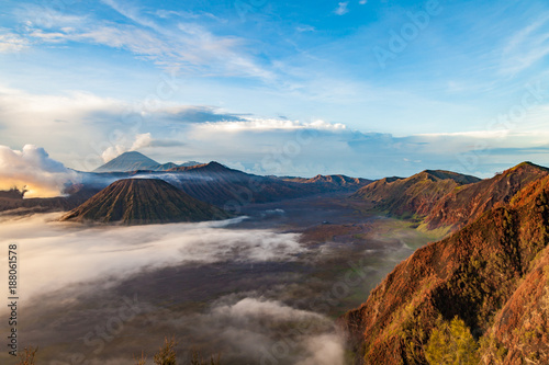 Foto op Aluminium Pool Tengger caldera at Semeru National Park, East Java, Indonesia.