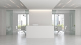 Interior of reception and meeting room 3D illustration - 188067540