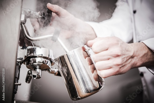 Barista Milk Steaming - 188075338