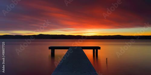 Glorious Australian sunset and jetty - 188077125