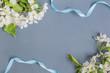 White spring flowers on a dark background - 188080175